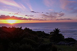 sunset at westhaven lodge